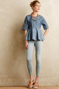 NEW Anthropologie Current/Elliott Stretch High Waist Stiletto Gingham Jeans 25 Spring Summer Fashion, Autumn Fashion, Looks Style, My Style, Cool Outfits, Fashion Outfits, Fashion Women, Weekend Wear, Look At You