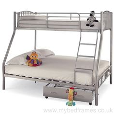 Buy Online Serene Oslo Triple Sleeper Bunk Bed at CFS Serene Furnishings Stockist Price. CFS Offers all pieces of Serene Furniture, Serene Bunk Beds with free & fast delivery all over England and Wales. Adult Bunk Beds, Kids Bunk Beds, Metal Bunk Beds, Cool Bunk Beds, Mid Sleeper Bed, Triple Sleeper, Single Size Bed, Single Beds, Silver Bedding