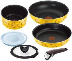 Amazon.co.jp: T-fal 鍋 フライパン セット 「インジニオ・ネオ」 取っ手の取れる ディズニー くまのプーさん イエロー セット6 L07291: ホーム&キッチン