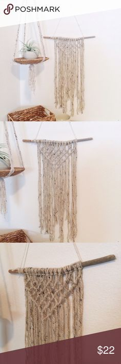 Knit Wall Hang Hand Crafted Wall Hanging Boho Home Decor Handmade By Me Measurements : (Will Be Posted Soon) Other #wallhangings