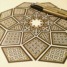 Nice geometry by  @kathryn.ellsworth. Check out and follow this amazing artist!  #mandala #mandalaart #mandalalove #mandaladesign #doodleart #zentangle #zendoodle #zenspire #zen #art #handmade #beautiful