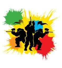 Colour paintball