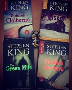 [FR] Les livres de #StephenKing disponibles en version originale annotee en francais pour aider a la comprehension chez Harraps (editions Larousse)