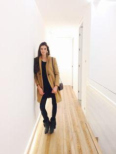 "Kamila, from ""Myfitspirations"" wearing Promod coat."