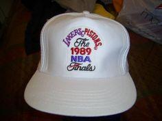 510a6e97515 vintage snapback detroit pistons la lakers 1989  NBA finals hat cap   Basketball from  19.99