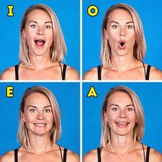 8Effective Exercises toSlim Down Your Face Facial Yoga, Facial Muscles, Face Facial, Beauty Tips For Skin, Beauty Secrets, Face Yoga Exercises, Face Tone, Double Menton, Get Rid Of Blackheads