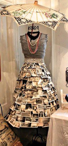 Bonne idée, y'a pas photo ou... plutôt si ! / A way to display photos and vintage jewelry.