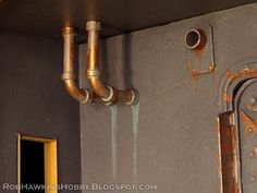 Here's a quick and easy way to make piping for your buildings, useful whether it's a sci-fi or steampunk setting.                 What you ...