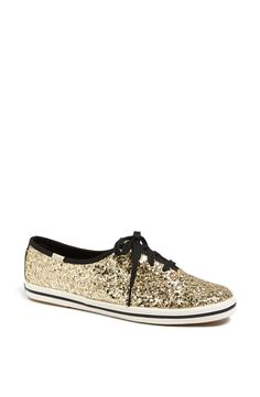 Sparkly gold glitter sneakers for the holiday season!