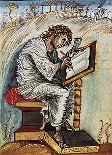 Vangeli di Ebbone, San Matteo - movimento e tensione; Reims. < ev. dell'Incoronazione
