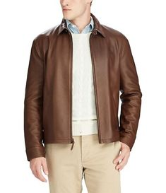 Polo Ralph Lauren Maxwell Lambskin Leather Zip Jacket In American Brown Leather Jacket Outfits, Lambskin Leather Jacket, Leather Men, Mens Brown Leather Jacket, Polo Ralph Lauren, Ralph Lauren Jackets, Ralph Lauren Leather Jacket, Leather Jackets Online, Jackets For Women