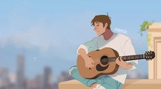 I love the idea of lance being a guitarist it keeps me alive<<<same tho Favorite Character, Paladin, Voltron Klance, Character Art, Playing Guitar, Animation, Anime, Cartoon, Fan Art