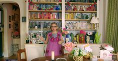 Amy Sedaris shared decorating tips with New York magazine's Wendy Goodman, who recently visited her Greenwich Village apartment. Her bff Todd Oldham was on hand to add his two cents on home s… Cream Chest Of Drawers, Greenwich Apartment, Yellow Cupboards, White Rocking Chairs, Amy Sedaris, Chimney Breast, Interior Decorating, Interior Design, Interior Ideas