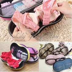Great idea for packing bras and underwear