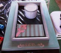 Introduction to Chalk paint - Workshop - Painted Frame Woman Painting, Painting Frames, Chalk Paint, Workshop, Home Decor, Atelier, Decoration Home, Room Decor, Work Shop Garage