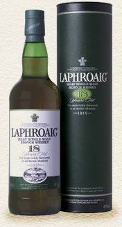 Laphroaig 18 year old Scotch Whisky at Domaine Wine Company Fine Wine and Spirits Dallas Texas