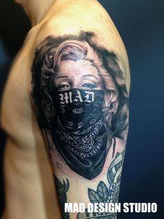 gangster Marilyn Monroe tattoo