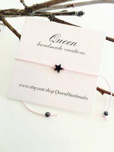 Bracelet étoile minuscule bracelet fin souhait bracelet
