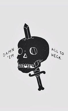 Damn em all // Skull art dagger tattoo style Elf Rogue, Ragnor Fell, Half Elf, Son Of Hades, The Wicked The Divine, Skull And Bones, The Villain, Grafik Design, Dragon Age