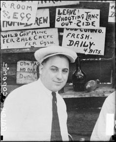 "Ralph ""Ralphie"" ""Bottles"" Capon(i)e, 1928, Chicago.Ralph was Al's older brother and also a member of the Chicago Outfit."