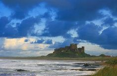 Bamburgh Castle in England