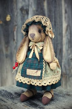 God and Country in Tennessee Diy Teddy Bear, Vintage Teddy Bears, Bear Toy, Soft Dolls, Handmade Home, Painting For Kids, Fabric Dolls, Pet Toys, Creations