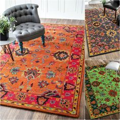 This area rug features a trendy overdyed traditional design. Made of 100-percent wool, the soft and plush rug was meticulously hand-crafted to create softness under your foot.