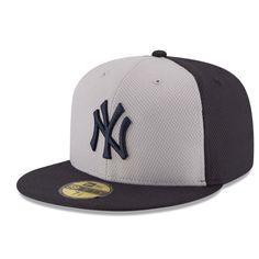 New York Yankees New Era Road Diamond Era 59FIFTY Fitted Hat - Navy/Gray
