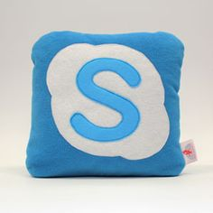Skype cushions. Hand craft funky, designer social media cushion for people with a soft spot for Skype.
