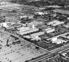 Aerial View of California State University, Northridge Campus, ca. 1973 :: CSUN University Archives
