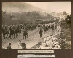 German and Ottoman chaps marching through Nablus #Palestine 1917 #WW1