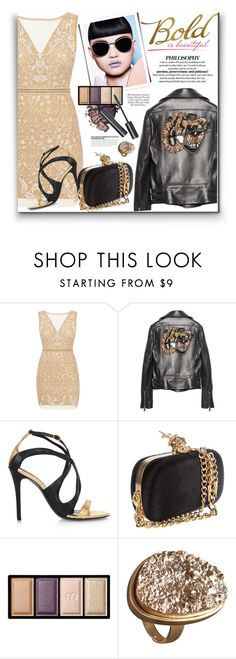 """""""239. Mixing Styles"""" by milva-bg ❤ liked on Polyvore featuring Nicole Miller, Gucci, Alexander McQueen, Clé de Peau Beauté and Anello"""