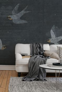 Art Concret, Concrete Art, Elegant Living Room, Beautiful Interiors, Decoration, Wall Murals, Street Art, Sweet Home, Throw Pillows