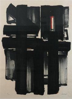 Pierre Soulages - Litographie, No. 2 - 24 X 18 in (60.96 X 45.72 cm)
