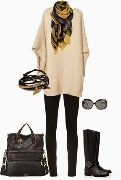 This sweater and scarf combo tho...if only I could get the scarf to look like this!