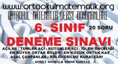 6. SINIF MATEMATİK DENEME SINAVI 2