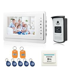 93.59$  Buy now - http://alil0s.worldwells.pw/go.php?t=32479802306 - FREE SHIPPING 7 inch video doorphone intercom system monitor speaker intercom video door phone access control system 93.59$