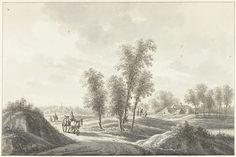 Het dorp Laren in het Gooi, Nicolaas Wicart, 1758 - 1815