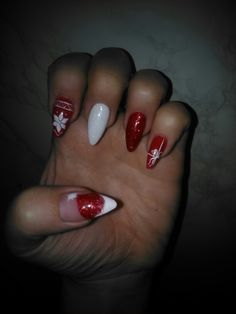 Xmas nail art :)