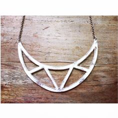 fabulous fall news: triangle cut outs necklace