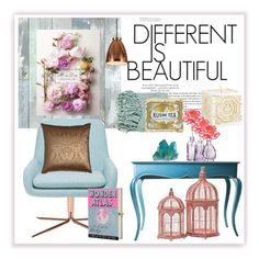 """""""different is beautiful"""" by anja-jovanovich ❤ liked on Polyvore featuring interior, interiors, interior design, home, home decor, interior decorating, Wall Pops!, Dyberg Larsen, Softline and H&M"""
