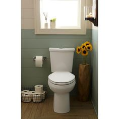 American Standard H2Option Right Height 2-piece 0.92/1.28 GPF Dual Flush Elongated Toilet in White ($206)