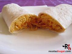 Fajitas de pollo desmechado con queso Ceviche, Recipies, Chicken, Meat, Food, Chicken Scratch, Cooking, Health Foods, Cute