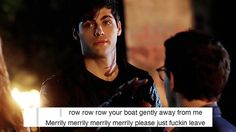 Row, row, row your boat ...  (from the tv serie Shadowhunters) ... the mortal instruments, alexander 'alec' lightwood,  matthew daddario, shadowhunters, simon lewis, alberto rosende