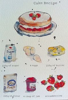 Watercolor cake recipe