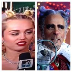The mayor of Whoville: | 22 Things Miley Cyrus Looked Like At The 2013 VMAs