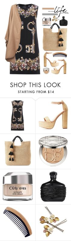 """""""31.08.17"""" by malenafashion27 ❤ liked on Polyvore featuring Dolce&Gabbana, Charlotte Russe, SONOMA Goods for Life, Christian Dior, Olay and John Varvatos"""