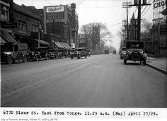 Bloor looking east from Yonge. 1929.    https://fbcdn-sphotos-a.akamaihd.net/hphotos-ak-snc7/475290_284245364978788_256041347799190_699949_328156313_o.jpg
