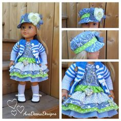 Summer clothes for 18 inch doll american girl doll handmade by AvaDeenaDesigns on Etsy