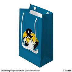 Emperor penguin cartoon small gift bag